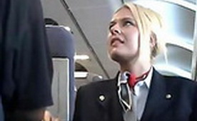 Stewardess Sucking Dick on a Plane