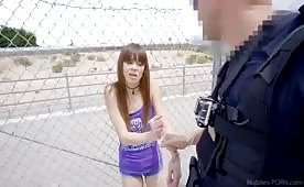 Crazy Hot Chick Tries to Get Out of Jail