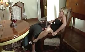 Young Dude Licks and Fucks Dirty Blonde Milf