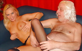 Young Sexy Blonde Satisfiected Horny Old Doctor