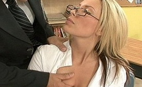Dirty Teacher Attacked Sexy Blonde Student