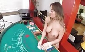 My Hot Private Blackjack Dealer Deepthroats and Hard Fucks on the Table