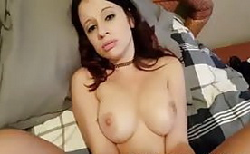Busty Spanish Girlfriend Gets POV Fucking and Swallowing