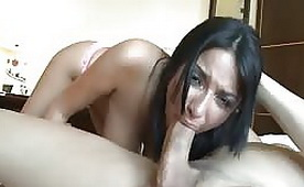 Busty Natural French Babe Getting Roughly Fucked with Swallowing