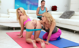 Stepmom Wanted To Teach Young Blonde New Stretching Techniques
