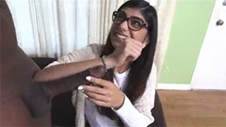 Mia Khalifa Can't Believe How Big This Black Cock Is!