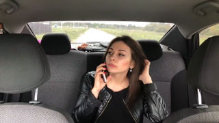 Hot Russian Babe Was Forced to Fuck with Rude Taxi Driver