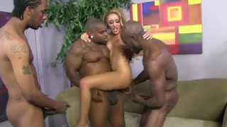Blonde Slut Wants More And More Black Monster Cocks