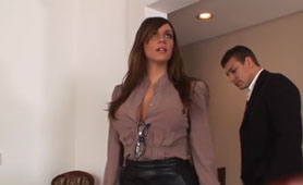 Attractive Busty Secretary Gets Her Asshole Banged On A Job Interview