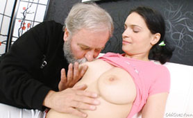 Son is So Generous and Shares with His Father His Horny Girlfriend